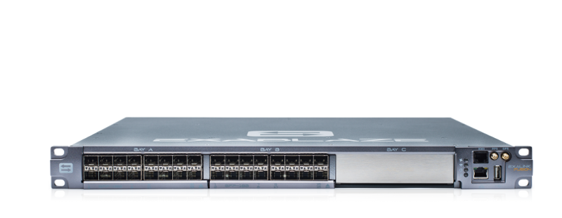 ExaLINK Fusion image with two SFP+ line cards, with 32 SFP+ ports.