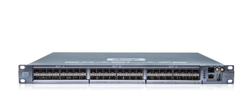ExaLINK Fusion image with three SFP+ line cards, with 48 SFP+ ports.