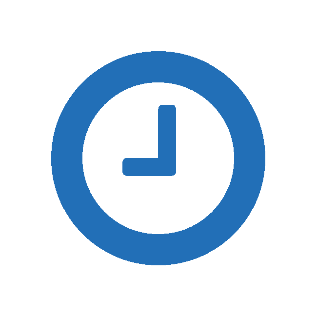 Icon of clock demonstrating ExaLINK Fusion timestamping capability.