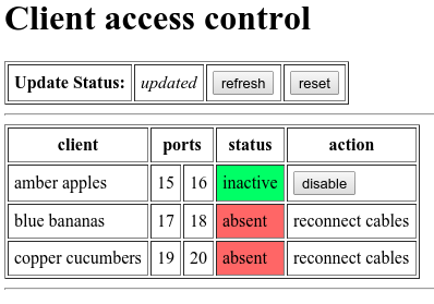 Diagram showing normal web app output
