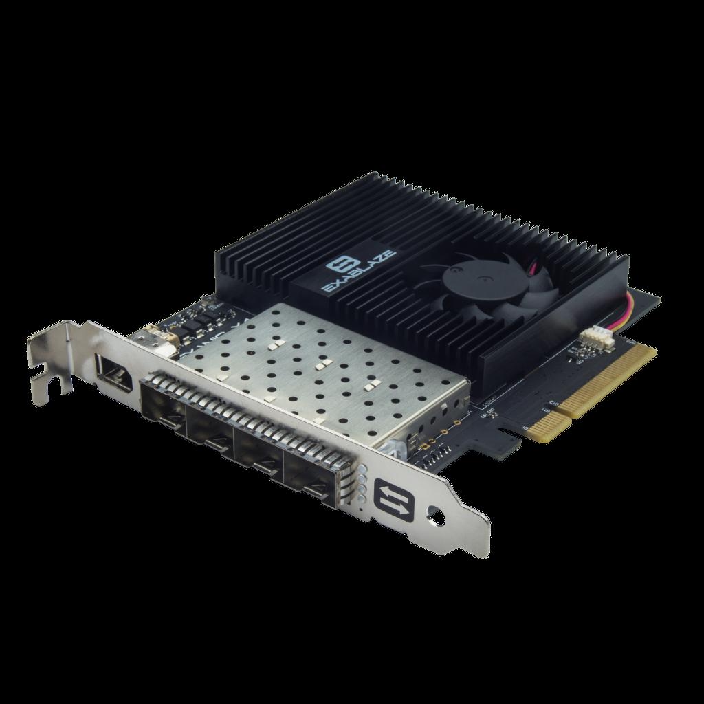 ExaNIC X4 - Sub-micro Latency Quad-Port 10GbE Network